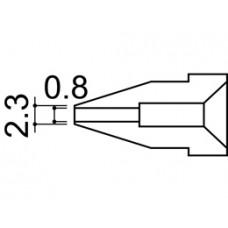 Kiforrasztó pákacsúcs 0,8 mm