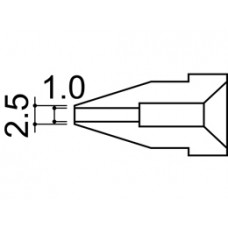 Kiforrasztó pákacsúcs 1,0 mm