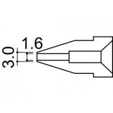Kiforrasztó pákacsúcs 1,6 mm