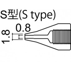 Kiforrasztó pákacsúcs 0,8 mm/S