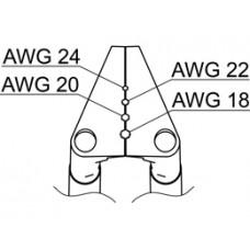 Vezetékcsupaszító penge, AWG 18-24, FT-8002-höz