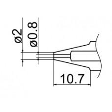 Kiforrasztó csúcs, 0,8 mm FM-2024-hez