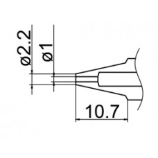 Kiforrasztó csúcs, 1,0 mm FM-2024-hez