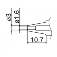 Kiforrasztó csúcs, 1,6 mm FM-2024-hez