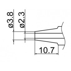 Kiforrasztó csúcs, 2,3 mm FM-2024-hez