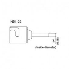 Meleg levegős fúvóka, belső átmérő 4 mm