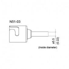 Meleg levegős fúvóka, belső átmérő 5,5 mm