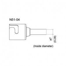 Meleg levegős fúvóka, belső átmérő 7 mm