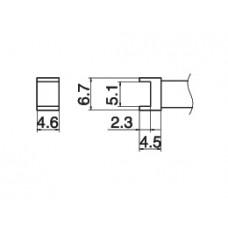 Pákahegy, alagút, 5,1 x 4,6 mm
