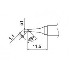 Pákahegy, 1BC forma, csak felületen ónozott