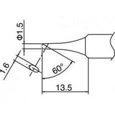 Pákahegy, T18 sorozat, 1,5C forma, csak talpfelületen ónozott