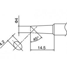 Pákahegy, T18 sorozat, 4C forma, csak talpfelületen ónozott