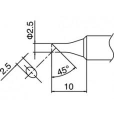 Pákahegy, T18 sorozat, 2,5CS forma, csak talpfelületen ónozott